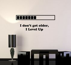 Vinyl Decal Quote Gaming Video Game Playroom Funny Decor Wall Stickers Unique Gift - - decoration house games,decoration house,decoration house near me Wall Stickers Unique, Decoration Stickers, Wall Stickers Quotes, My New Room, My Room, Vinyl Decals, Wall Decals, Deco Gamer, Gamer Quotes
