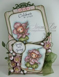 From My Craft Room: Spring Has Sprung - FFFC #136 'Buttons and Bows'