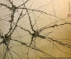Greg Dunn's gold leaf painting of synapses