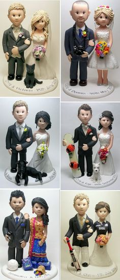Unique wedding cake toppers; Feats of Clay