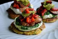 Fast Paleo » Zucchini Pancake Breakfast Tower - Paleo Recipe Sharing Site