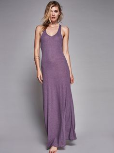 Girlfriend Maxi | American made maxi dress featuring semi-sheer, ribbed…