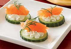Cucumber, Avocado & Smoked Salmon hors d'oeuvres