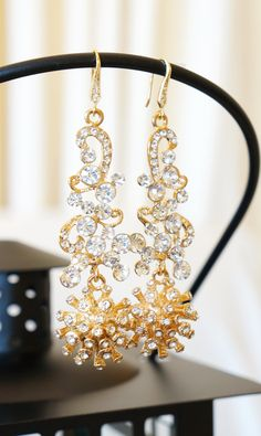 Bridal Jewels Crystal Drop Earrings Bridal Jewelry by VintagePinch #bridal #new #momblogger #momfashion #fblogger #fashion #mystyle #anthropologie #instyle #weekendlook #weddingblogger #vogue #trendy #gifts #etsy