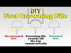 In this video I design and build a crude fret crowning file using sandpaper as the abrasive surface. This of course needs to be changed regularly with use, b. Guitar Strings, Guitar Chords, Acoustic Guitar, Cigar Box Guitar, Guitar For Beginners, Guitar Building, Guitar Lessons, Les Paul, Music