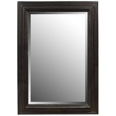 4 ft. 8 in.Hx3 ft. 3 in.Wx3.5 in.D Italian Ebonized Frame with Mirror | From a unique collection of antique and modern wall mirrors at https://www.1stdibs.com/furniture/mirrors/wall-mirrors/