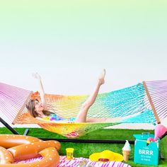 Add some color to your summer with this DIY Rainbow Hammock!