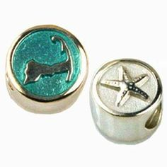 Currents Gifts and Jewelry - Cape Cod Round Sterling Bead with Enamel , $34.00 (http://www.currentsgifts.com/cape-cod-round-sterling-bead-with-enamel/)