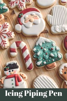 Christmas Mood, Christmas Goodies, Christmas Desserts, Christmas Treats, All Things Christmas, Merry Christmas, Iced Cookies, Royal Icing Cookies, Cookies Et Biscuits