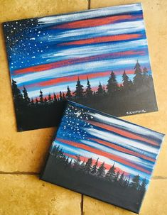 How To Paint American Flag Sky - Step By Step Painting art diy art easy art ideas art painted art projects Simple Canvas Paintings, Easy Canvas Painting, Acrylic Painting Tutorials, Diy Canvas Art, Acrylic Painting Canvas, Diy Painting, Acrylic Art, Painting Lessons, Beginner Canvas Painting Ideas