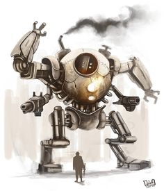 Steampunk Mech Warriors. My sons would be over the moon if this were real.