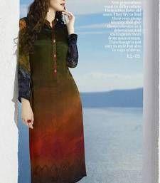 Buy Multicolor  printed Crepe kurti kurtas-and-kurti online
