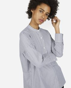 The Light Oxford Collarless Square Shirt - Everlane