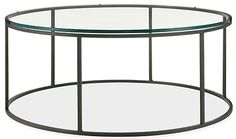 Tyne Round Cocktail Tables in Natural Steel - Cocktail Tables - Living - Room & Board