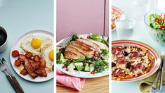 What can you eat on a keto diet? This 14-day keto meal plan includes recipes and shopping lists — everything you need to start a keto way of eating today. Healthy Dinner Recipes, Diet Recipes, Healthy Snacks, Breakfast Recipes, Ketogenic Recipes, Cooker Recipes, Diet Tips, Lunch Recipes, Breakfast Club
