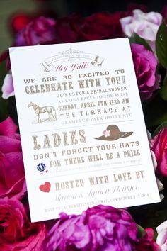 kentucky derby bridal shower invitation by prim & pixie