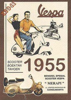 Vintage Motorcycles 32 Interesting Vintage Vespa Ads Around the World From Between the and Vintage Vespa, Pub Vintage, Vintage Italian Posters, Vintage Advertising Posters, Old Advertisements, Advertising Campaign, Scooters Vespa, Piaggio Vespa, Scooter Scooter
