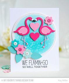 Tickled Pink, Cross-Stitch Circle STAX Die-namics, Flamingos Die-namics, Fresh Cut Flowers Die-namics, Poinsettia Die-namics - Kay Miller  #mftstamps
