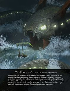 Midgard Serpent by Milek Jakubiec, from Immortal - Art Book of Myths and Legends - on Kickstarter https://www.kickstarter.com/projects/game-o-gami/immortal-art-book-of-myths-and-legends?utm_source=Direct%20Messages&utm_medium=Email&utm_campaign=Kickstarter%20Immortal%20Book%20Email
