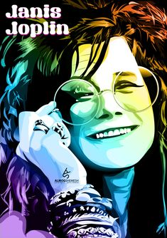 Janis Joplin illustration http://raw.abduzeedo.com/post/27627925434/janis-joplin-illustration
