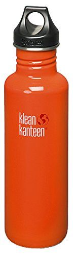 Klean Kanteen Stainless Steel Bottle with Loop Cap40OunceFlame Orange *** Want additional info? Click on the image.