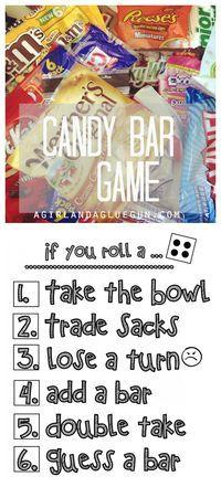 fun candy bar game