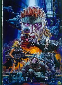 Metal Gear Solid 2 Artwork by Noriyoshi Ohrai