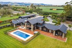 42 Hamptons Road, Prebbleton, Christchurch City 7604 - Lifestyle Property for Sale - Ray White Town & Lifestyle Modern Barn House, Barn House Plans, Stone Cabin, Home Design Floor Plans, Luxury Estate, House Goals, Future House, Building A House, New Homes