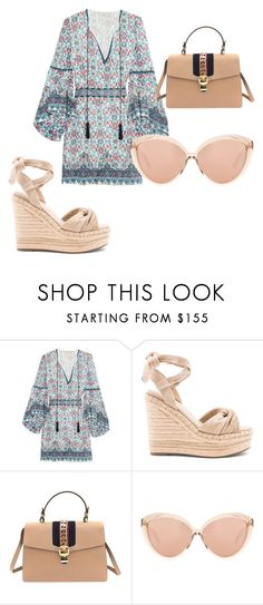 """""""Look cute in this summer must have outfit!"""" by kahala-shop on Polyvore featuring Talitha, Kendall + Kylie, Gucci and Linda Farrow"""