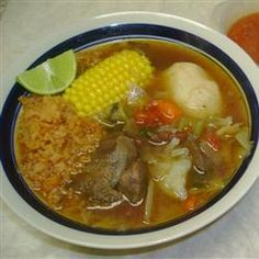 My Grandma's was the best.........Caldo de Res (Mexican Beef Soup) Allrecipes.com