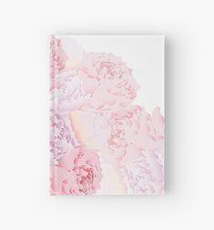 Peonies hardcover journal paper #redbubble  #pastell #school #notebook #journalpaper #sketchbook #sketches #peonies