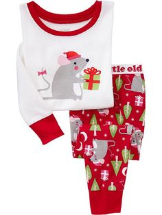 Holiday-Mouse PJ Sets for Baby