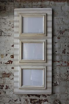 3 Opening Distressed Stripe Frame in Popular Gray and White Neutral Walls, Neutral Colors, Sherwin Williams Perfect Greige, Dover White, Delta Girl, Agreeable Gray, Benjamin Moore Paint, Vertical Or Horizontal, 10 Frame