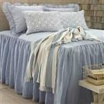 Pine Cone Hill Savannah Linen Chambray French Blue Bedspread