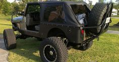 Jeep YJ Stinger Bumper   diy rear stinger tire carrrier for those who would like to adapt it