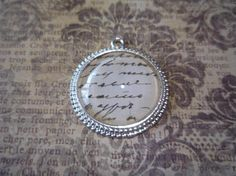 White Script Pendant 1 by 1 Chain included