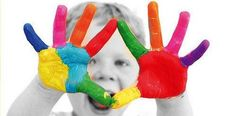 Rainbow -paint the children's hands in a rainbow and take a print