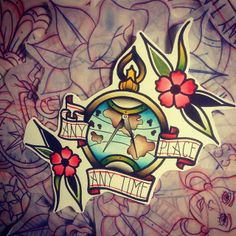 #flash #tattooflash #tattooart #tattoo #tattoos #art #tradition #traditional #oldschool #compass #flower #oldschool