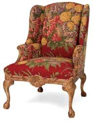 floral Victorian style chair