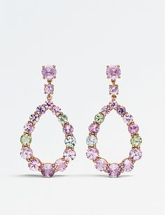 BUCHERER FINE JEWELRY Pastello 18ct rose-gold and sapphire earrings