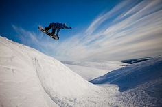Snowboarding in Pyhä, Lapland, Finland | Flickr. Photo by Visit Finland.