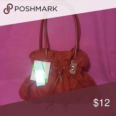 Pocketbooks Red shoulder back with inside zip pocket and drawstring Bags Shoulder Bags