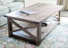 12 Gorgeous DIY Table - would like to make a dining table version of this with white legs and grey stained table top
