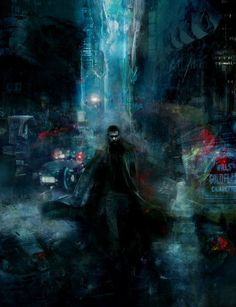 MBLADE RUNNER painting by artist Christopher Shy.