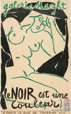 By André Marchand, 1946, Le noir est une couleur (Black is a color), Galerie Maeght, Paris.