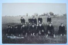FOOTBALL-TEAM-OF-1914-WHITEHALL-MICHIGAN-postcard-RPPC-Rare