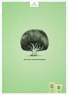 Lehning shampoo: Most natural, 4 The most natural shampoo. Advertising Agency: Havas 360, Paris, France