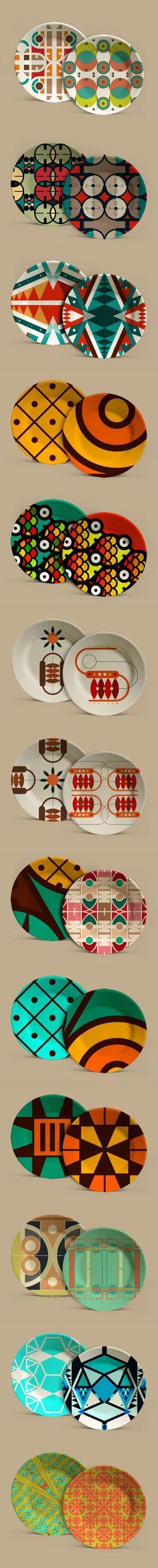 Aplicaciones: Crónicas Visuales del Abya Yala by Vanessa Zúñiga Glass Ceramic, Ceramic Plates, Porcelain Ceramics, Ceramic Pottery, Ceramic Art, Geometric Patterns, Textures Patterns, Print Patterns, Pottery Painting