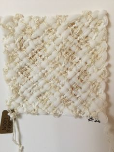 Tiny weaving on blank card w/envelope.