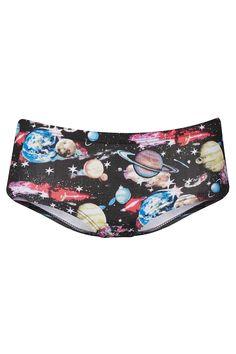 Galactic Planet Print Cheeky Pants - Topshop